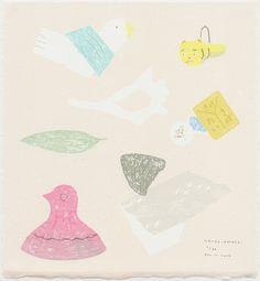 LC201727 西平幸太 NISHIHIRA Kota にちにちの-タカラコバコ- スクリーンプリント 20×18cm ED/60