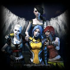 Sirens of borderlands Angel, Steele, Maya, and Lilith.