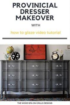 easy tutorial on how to glaze furniture / Grillo Designs www.grillo-designs.com