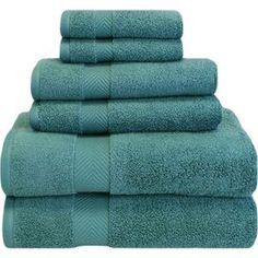 6-Piece Twist Towel Set in Jade
