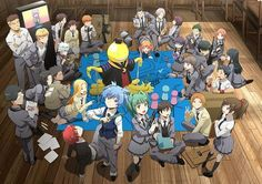 assassination classroom: at first i didn't think this anime was going to be any good. but as i kept watching it i loved it a lot. there are two seasons. genre -  Action, Comedy, School, Shounen, Supernatural