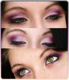 Pink/purple eye makeup for green eyes