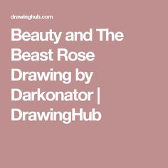 Beauty and The Beast Rose Drawing by Darkonator | DrawingHub