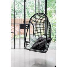 HKliving Hangstoel 110 Cm   Zwart