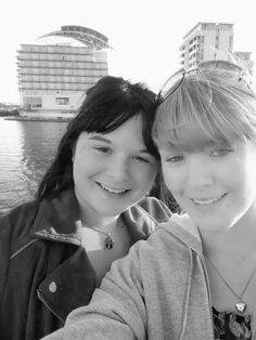 Chloe Askew's selfie at Cardiff Bay. Photo was part of a surprise holiday to see Casualty Studios.