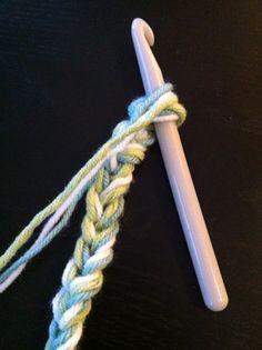 crochet size p hook - single chain baby /lap blanket
