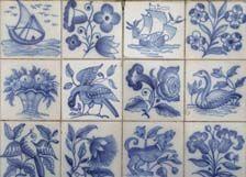 Portuguese hand painted tile.