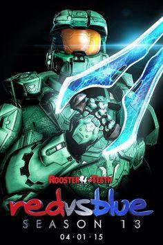 Red vs Blue Season 13 character poster - Tucker