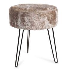 Stuhl im vintage stil mit elfenbein kunstfellbezug mauricette interieur 2k17 pinterest - Kunstfell fur stuhl ...