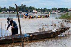 Boat on Mekong and fisherman | Flickr - Photo Sharing!