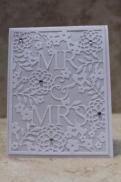 Wedding Card, White, Handmade by HydeParkHill on Etsy