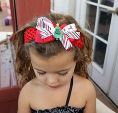 Olivia Paige  Little girl Stripe  Bow by OliviaPaigeClothing