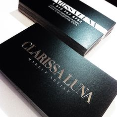 A business card I designed for Clarissa Luna, 2011's North American hair Awards makeup artist of the year!!
