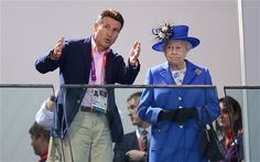 Chairman Lord Sebastian Coe (left) speaks to Queen Elizabeth II as they watch the morning session of the Swimming at the Aquatics Centre in London on day one of the London 2012 Olympics Photo: PA Sebastian Coe, London 2012 Game, Paralympic Athletes, Olympics Opening Ceremony, Blue Silk Dress, Philippine News, Team Gb, Queen Elizabeth Ii