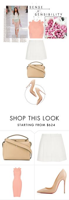 """""""Yael"""" by loeswhite ❤ liked on Polyvore featuring Fendi, Chloé, Cushnie Et Ochs and Christian Louboutin"""