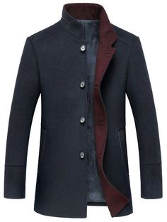 Vintage Clothes - online shopping for Mordenmiss Men's Wool Trench Coats Winter Warm Business Jacket Overcoat Outwear from top store. See new offer for Mordenmiss Men's Wool Trench Coats Winter Warm Business Jacket Overcoat Outwear Fashion Mode, Fashion Night, Mens Fashion, Cheap Fashion, Winter Trench Coat, Wool Trench Coat, Mode Masculine, Business Mode, Business Casual