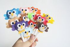 Owl Cupcake Toppers Pick Your 12 mini felt plush by takiecrafts, $26.00
