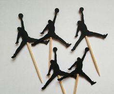 Jumpman Inspired Cupcake Toppers Jordan by ThisIsElevenEleven