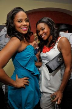 Sanaa Lathan and Gabrielle Union Black Girls Rock, Black Girl Magic, Beautiful Black Women, Beautiful People, Classy Women, Sexy Women, Meagan Good, Black Actresses, Sanaa Lathan