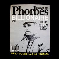 Joaquin 'El Chapo' Guzman on the cover of Phorbes Billionaire magazine.