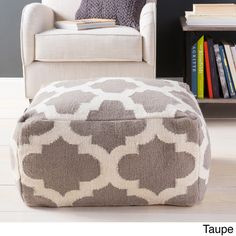 Hand Crafted Morocco Trellis 24-inch Large Square Pouf - Overstock™ Shopping - Great Deals on Ottomans