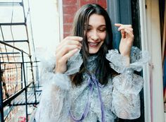 Bella Hadid wearing Marc Jacobs Spring '17. Shot by Daniel Jackson for Teen Vogue February 2017