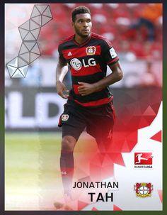 Jonathan Tah Bayer Leverkusen (Bundesliga) Silver Parallel Card 2016 Topps KICK