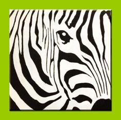 Zebra 12 x 12 Acrylic