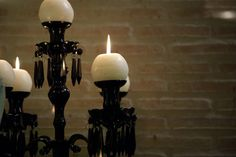 Candelabro en la decoración de la cata de vino Cadena Ser por alcoper concept.