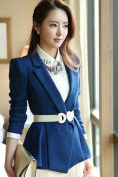 Woman Fashion Blend Blue Suit (US$16.99)
