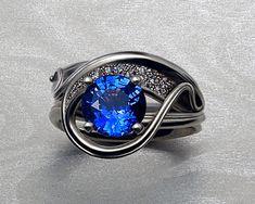 Solitaire Enhancer — Metamorphosis Jewelry Custom Made Engagement Rings, Designer Engagement Rings, Engagement Ring Settings, Diamond Engagement Rings, Solitaire Enhancer, Diamond Settings, Quality Diamonds, Ring Designs, Blue Sapphire