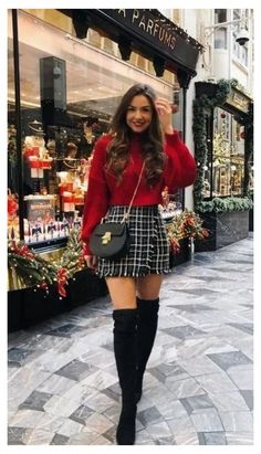 Cute Skirt Outfits, Cute Fall Outfits, Cute Skirts, Girly Outfits, Classy Outfits, Stylish Outfits, Spring Outfits, Skirt Outfits For Winter, Autumn Skirt Outfit