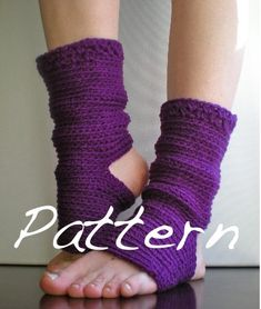 PATTERN Yoga Socks Dance Pilates Ballet Leg Warmers by swellamy. $5.00 USD, via Etsy.