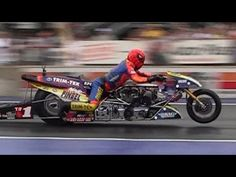 ▶ 2013 Night Under Fire Larry Spiderman McBride Nitro Top Fuel Motorcycle Nostalgia Drag Racing - YouTube