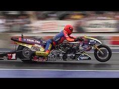 ▶ 2013 Night Under Fire Larry Spiderman McBride Nitro Top Fuel Motorcycle Nostalgia Drag Racing - YouTube