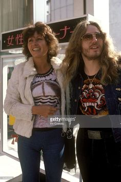 Photo of David COVERDALE and DEEP PURPLE; David Coverdale posed in Tokyo with his girlfriend