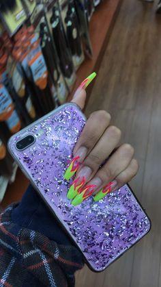 Nail Shapes - My Cool Nail Designs Dope Nails, Nails On Fleek, Fun Nails, Acrylic Nail Designs, Acrylic Nails, Acrylics, Coffin Nails, Nail Games, Nagel Gel