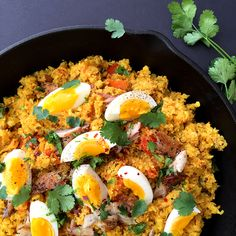 Cauliflower Kedgeree | Grok Grub . This cauliflower kedgeree is a modern adaption of a smoky, spicy, curried Indian dish that the British adopted during colonial times. Substituting cauliflower for rice keeps this dish veggie-heavy without skimping on flavor.