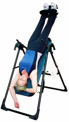 Health Benefits of Inversion Therapy like Anti-Aging: Because this reverses the effects of gravity, it helps people to become younger.  It helps people to reverse the effects of many hours of sitting or standing. It helps the brain to get a lot of oxygen by using gravity to help with this.