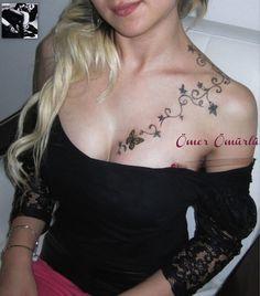 pretty design | chest tattoos for women