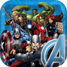 Hero up your superhero party with these Avengers Assemble Party Dinner Plates. These square plates are raiser along the edges so pizza slices and burgers won't slide off these plates so easily. Add th