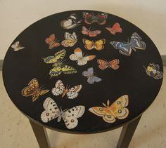 Decoupage furniture: butterflies  for my classroom by swamp dragon, via Flickr