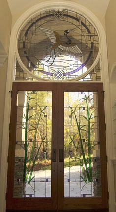 Custom Made Stained Glass Door