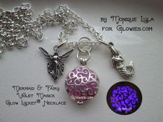 Mermaid & Fairy Violet Magick Glow Locket® Necklace. Starting at $1 on Tophatter.com!