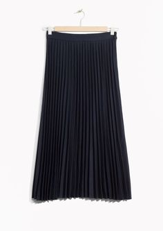& Other Stories image 1 of Accordion Skirt  in Navy