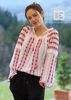 hand embroidered blouse - Romanian blouse - boho chick - bohemian