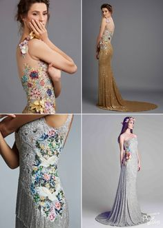 c049693a1d Stunning embroideries on silver and gold! These Hamda Al Fahim gowns are  downright droolworthy!