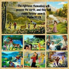 (people think they are all going to heaven. the Bible plainly says in several places we will inherit the Earth. What an amazing promise from our Heavenly Father Jehovah Life In Paradise, Paradise On Earth, Bible Promises, Gods Promises, Bible Teachings, Bible Scriptures, Inspirational Scriptures, Jehovah Paradise, Isaiah 65