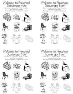 Preschool Open House FREE Printable Scavenger Hunt