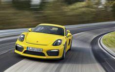 Porsche Cayman GT4 Amarillo Frontal fx